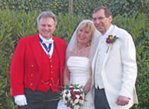 Essex toastmaster with bride and bridegroom on their wedding day at Stock Brook Manor Golf & Country Club, Essex