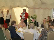 Richard Palmer English Toastmasters Association Master of Ceremonies at wedding at Pontlands Park Great Baddow