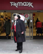 Town Crier, Richard Palmer in Cambridge