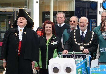 Chelmsford City Cryer supporting Chelmsford Foodbank