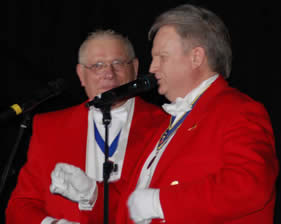 English Toastmaster comparing the Help for Heroes Concert at the Charter Hall, Colcherster with Essex Police