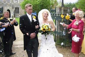 Bride and Bridegroom at an Essex Wedding