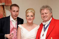 Essex wedding Toastmaster Richard Palmer with Bride and Groom Hannah and Chris