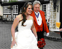 Essex Wedding Toastmaster at the Ye Olde Plough House with a fabulous bride