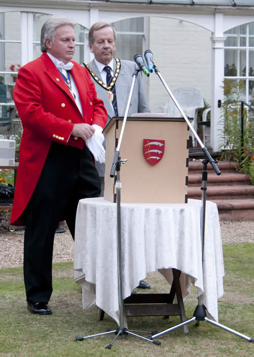 Essex Toastmaster at the Chairman of Essex County Council Chairman's Reception 2011