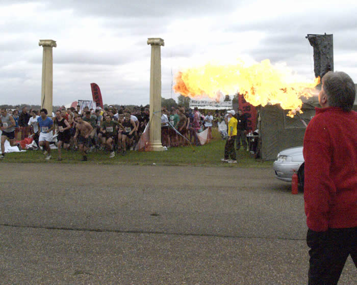 Spartan Races Fire Breather The Essex Toastmaster for Help for Heroes