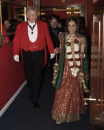 Hindu Toastmaster at Parklands, Essex with Bride Neesha on the way to her civil ceremony before the Hindu ceremony