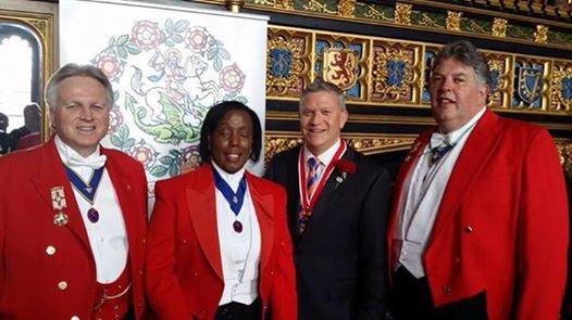 Toastmasters at The House of Commons, Speakers State Apartments for St. George's Day Celebrations