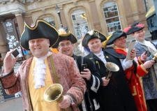 Five town criers from the English Toastmasters Association
