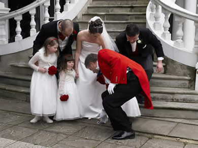 Essex toastmaster Richard Palmer assisting Essex wedding photographer at The Manor of Groves, Hertfordshire