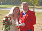 Essex toastmaster with lovely Louse at Vaulty Manor, Essex