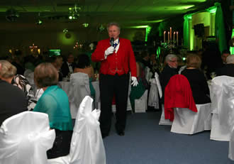 Essex Based English Toastmaster Richard Palmer at Colchester Uniited Football Club for the NSPCC Emerald Ball