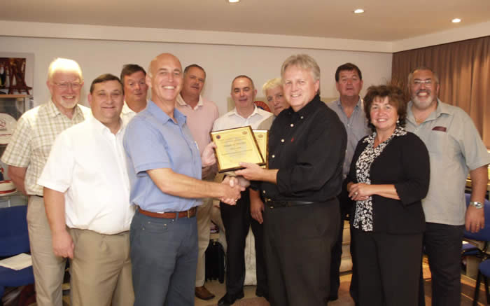 Presentation of certificates at the toastmasters training seminar, in August 2011, to Steve Phelps our new toastmaster from South Wales