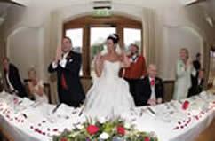 English Toastmaster Richard Palmer at Spains Hall Reception for Wedding