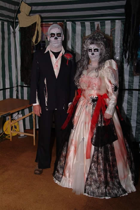 The Happy Couple at The Dead Wedding Party
