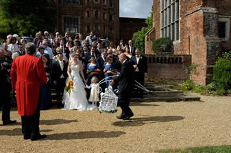 Dove Release Layer Marney Tower with Richard Palmer Wedding Toastmaster Essex
