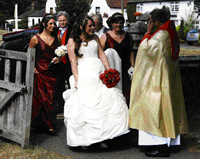 Wedding toastmaster Essex at Church Wedding with the wedding party