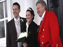 Wedding Toastmaster with Bride and Groom at Boreham House