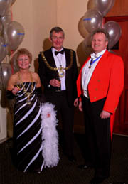 Essex toastmaster Richard Palmer with the Mayor of Essex